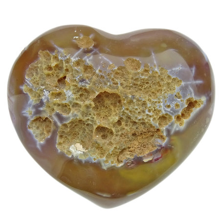 Beautiful heart of agate with quartz crystals from Brazil