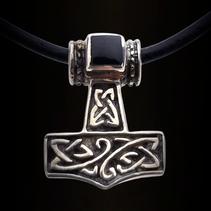 Zilveren hanger hamer van Thor