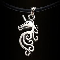 Zilveren hanger Unicorn