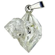 Hanger van Herkimer diamant met zilveren oogje