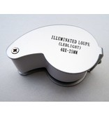 magnifying glass 40x with LED lighting white