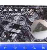 Geëtste Muonionalusta meteoriet in doosje
