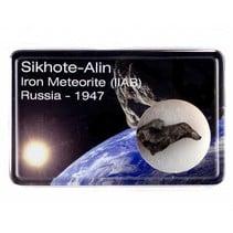 Sikhote-Alin meteorite in display box