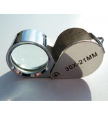 Single magnifying glass, magnifying glass, 30 x 21mm 30x magnification