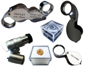 Magnifiers and boxes