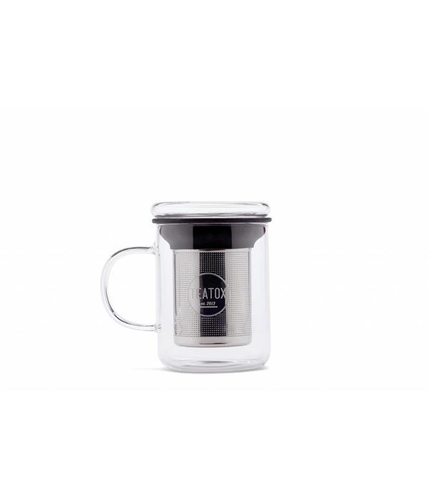 Teatox Glazen Theemok met RVS Filter