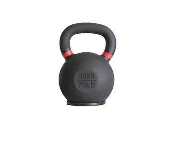 Fitribution 32kg kettlebell met gekleurde ring en rubberen voet