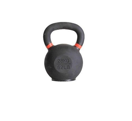 Fitribution 28kg kettlebell met gekleurde ring met/zonder rubberen voet