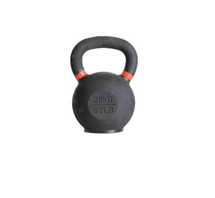 28kg kettlebell met gekleurde ring met/zonder rubberen voet