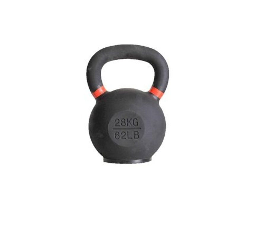 28kg kettlebell with coloured ring and rubber foot