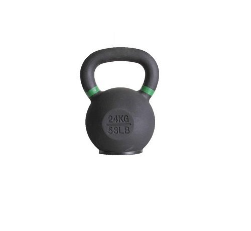 Fitribution 24kg kettlebell avec anneaux colorés et pied en caoutchouc