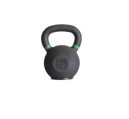 Fitribution 24kg kettlebell met gekleurde ring en rubberen voet