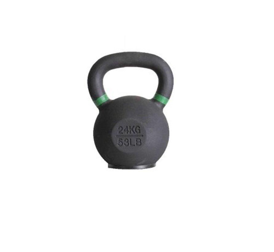 24kg kettlebell met gekleurde ring met/zonder rubberen voet