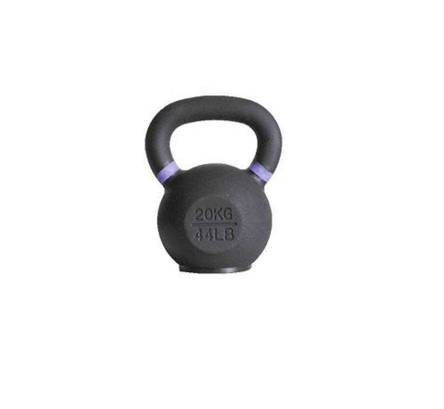20kg kettlebell met gekleurde ring met/zonder rubberen voet
