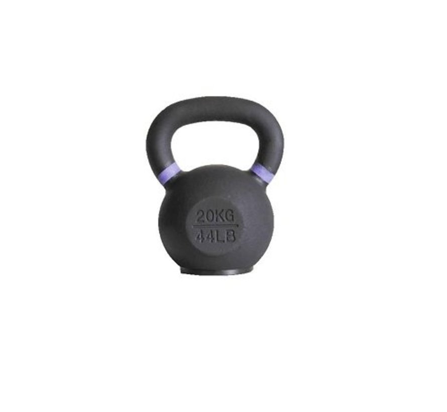 20kg kettlebell with coloured ring and rubber foot