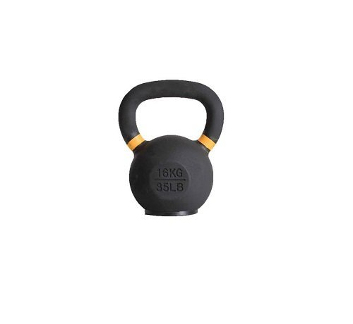 Fitribution 16kg kettlebell met gekleurde ring en rubberen voet
