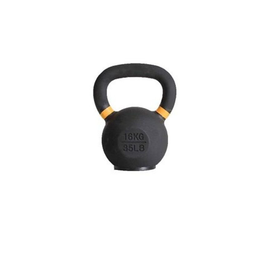 16kg kettlebell with coloured ring and rubber foot
