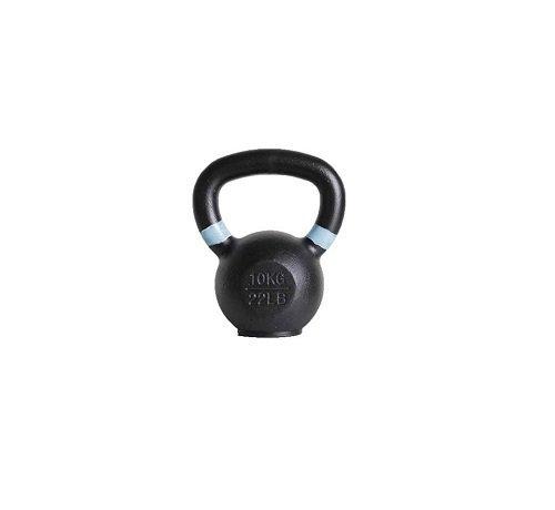Fitribution 10kg kettlebell met gekleurde ring met/zonder rubberen voet