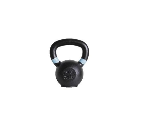 Fitribution 10kg kettlebell with coloured ring and rubber foot