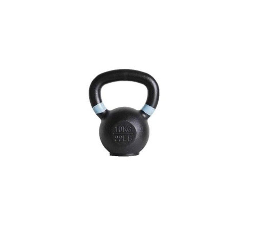 10kg kettlebell met gekleurde ring met/zonder rubberen voet
