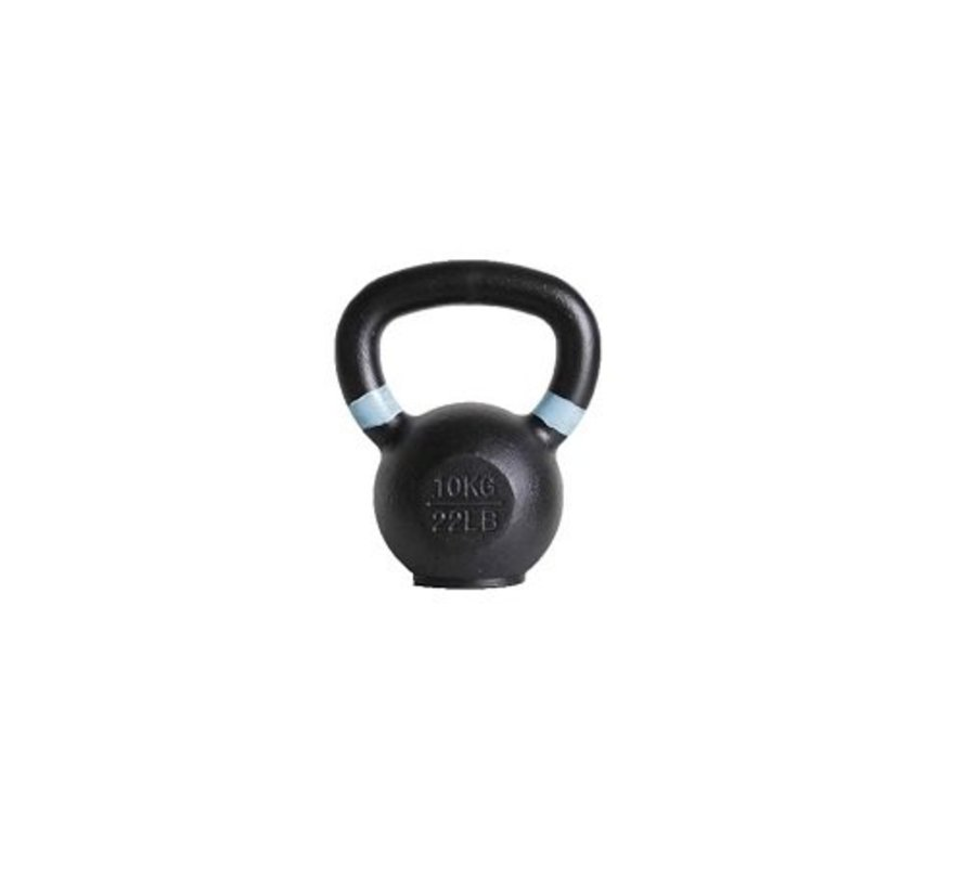 10kg kettlebell with coloured ring and rubber foot