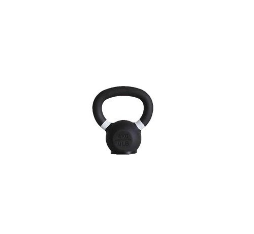 Fitribution 4kg kettlebell met gekleurde ring met/zonder rubberen voet