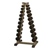 Fitribution Haltères Hexagonaux caoutchouc 1-10kg avec rack