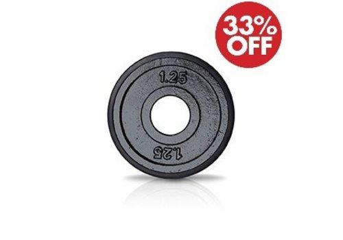 1,25kg schijf ijzer met rubberen ring 50mm