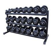 Fitribution Classic iron dumbbells 5-30kg + rack