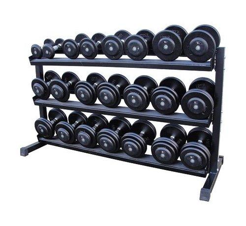 Fitribution Haltères Classiques en fonte 5-30kg + rack