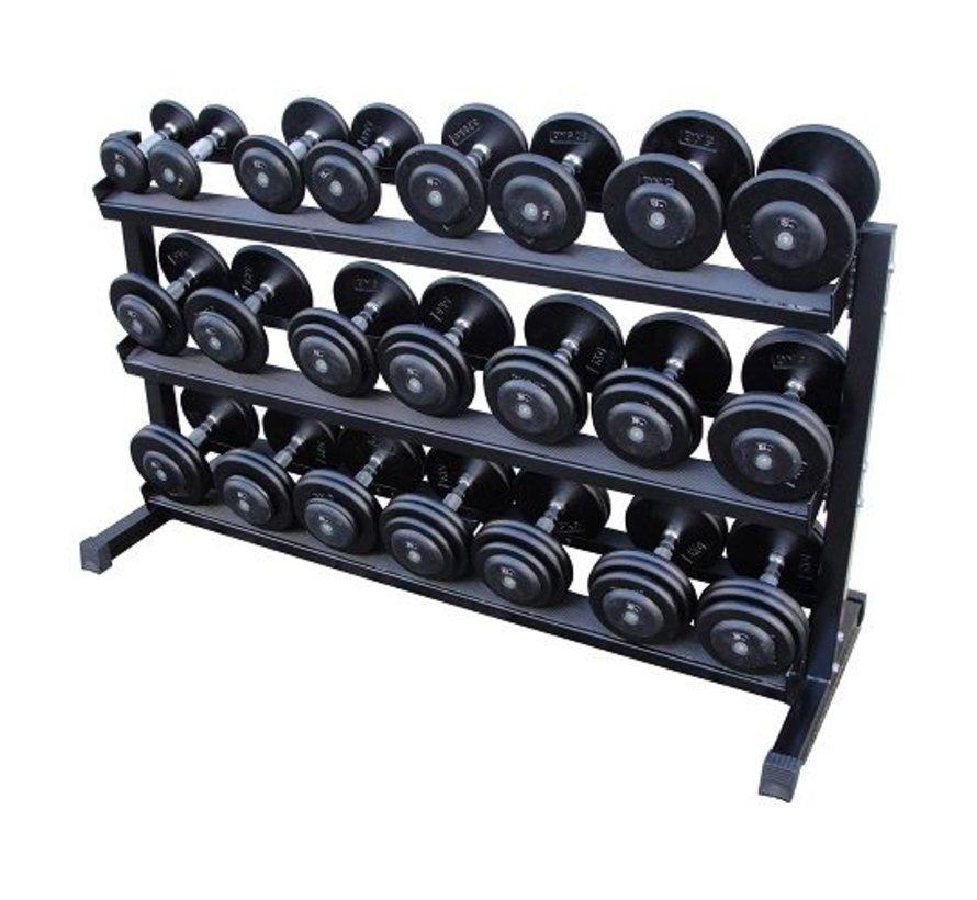 Haltères Classiques en fonte 5-30kg + rack