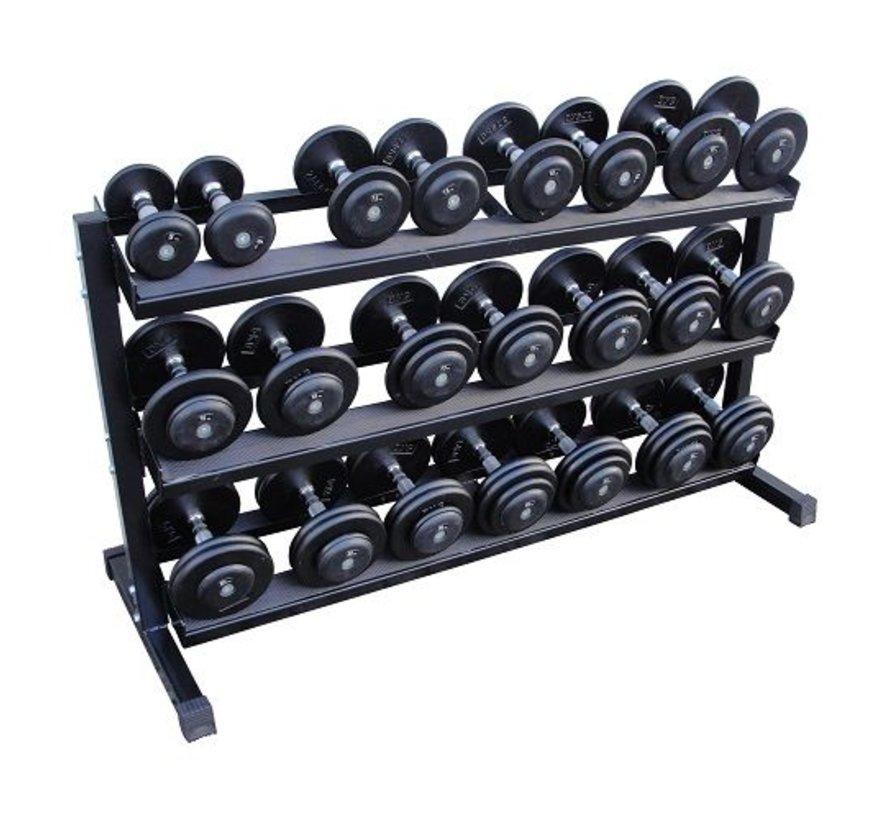 Classic iron dumbbells 5-30kg + rack