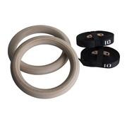 Fitribution Houten gym ringen met straps