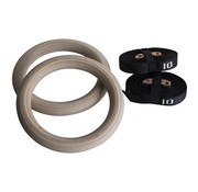 Fitribution Wooden gym rings with straps