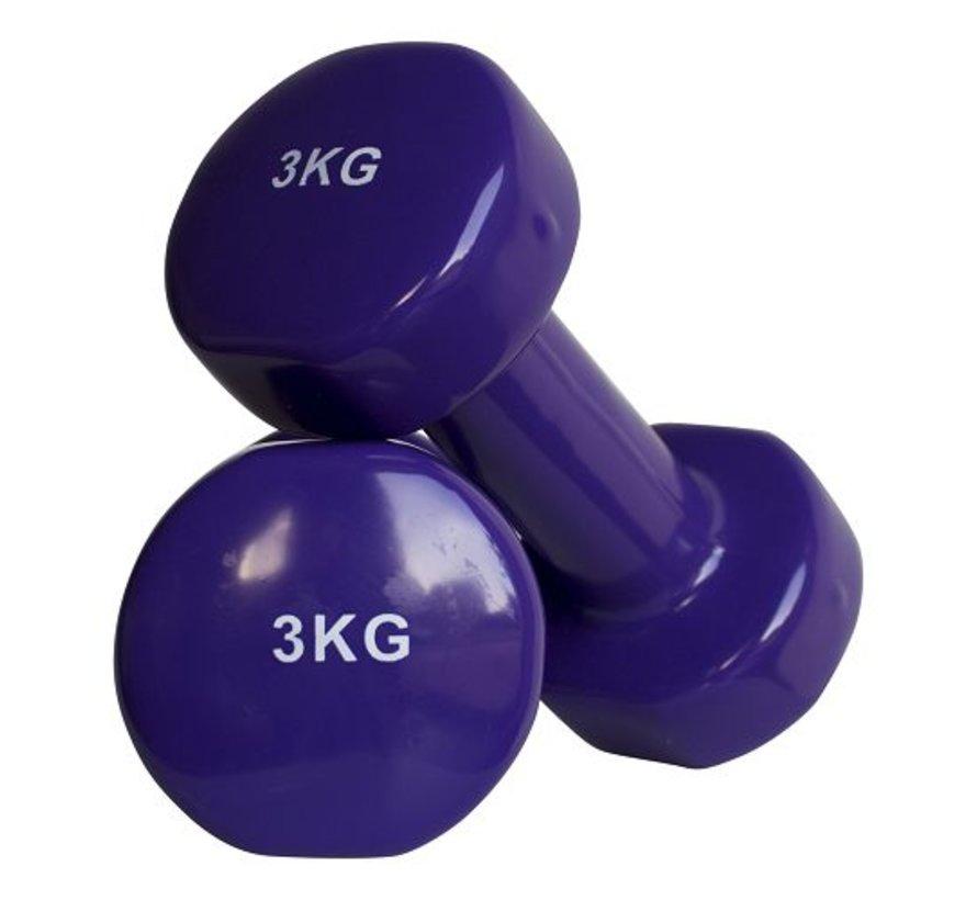 Aerobic dumbbells 3kg (1pair)