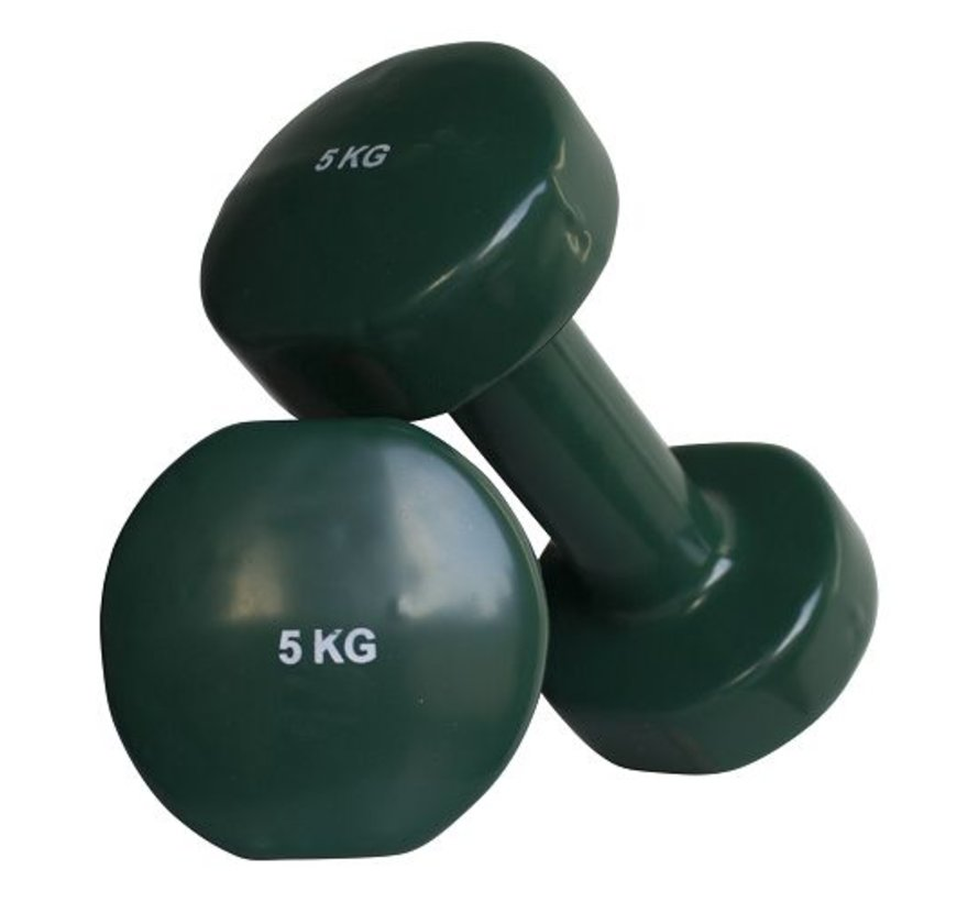 Aerobic dumbbells 5kg (1pair)