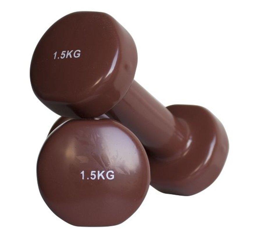 Haltères vinyle 1.5kg (1paire)