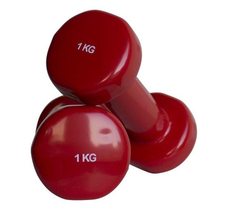 Mancuernas aeróbicas 1kg (1 par)