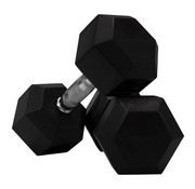 Fitribution Hex rubber dumbbell set 22 - 30kg 5 paar