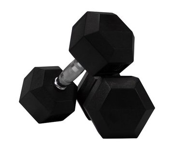 Fitribution Conjunto De Mancuernas De Caucho Hexagonal De 12,5 A 30kg 8 Pares
