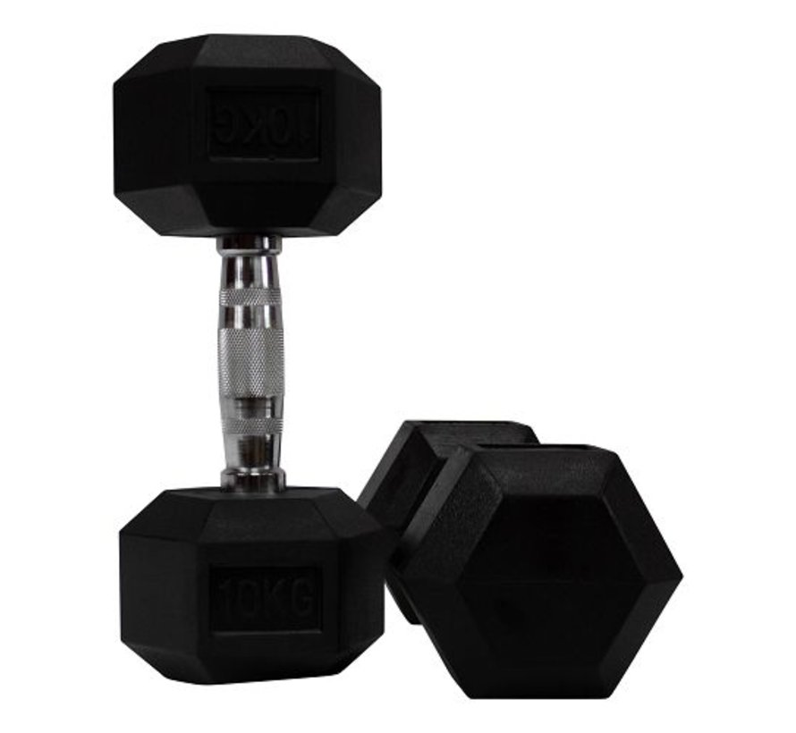 Hex rubber dumbbell set 12,5 - 30kg 8 pairs