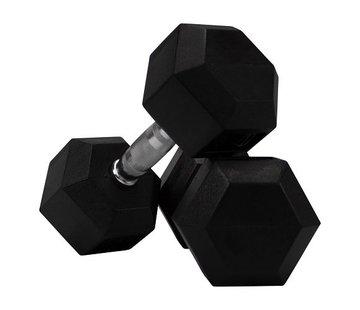 Fitribution Conjunto De Mancuernas De Caucho Hexagonal De 5 A 20kg 7 Pares