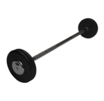 Rubber fixed barbells