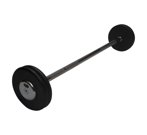 Fitribution Rubber straight fixed barbells