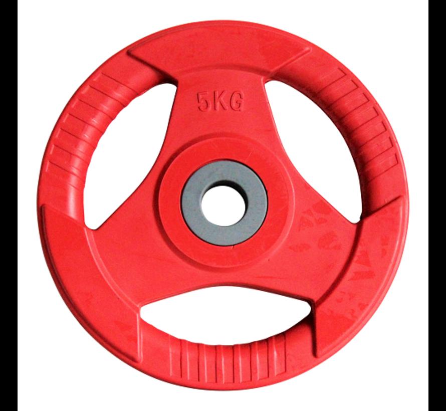 Body Pump schijven rubber 5kg (1paar) 30mm