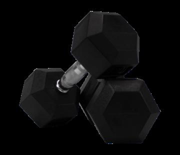 Fitribution Conjunto De Mancuernas De Caucho Hexagonal De 7kg 1 Pares