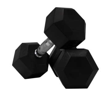 Fitribution Hex rubber dumbbells 5kg (1 pair)
