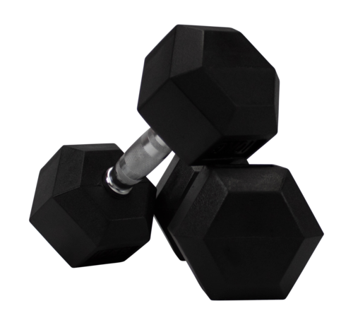 Fitribution Conjunto De Mancuernas De Caucho Hexagonal De 5kg 1 Pares