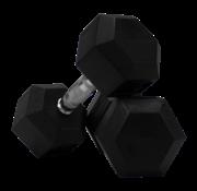 Fitribution Conjunto De Mancuernas De Caucho Hexagonal De 9kg 1 Pares