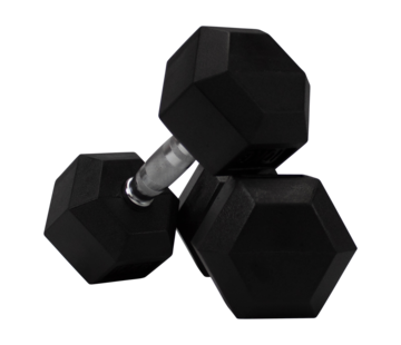 Fitribution Hex rubber dumbbells 9kg (1 paar)